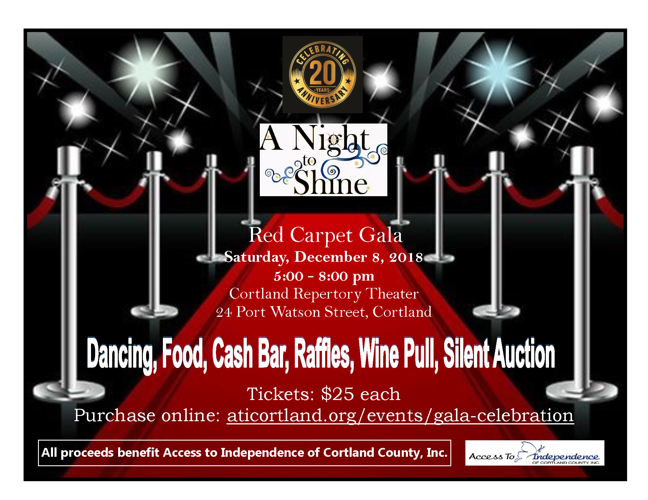 2018 Red Carpet Gala Flyer